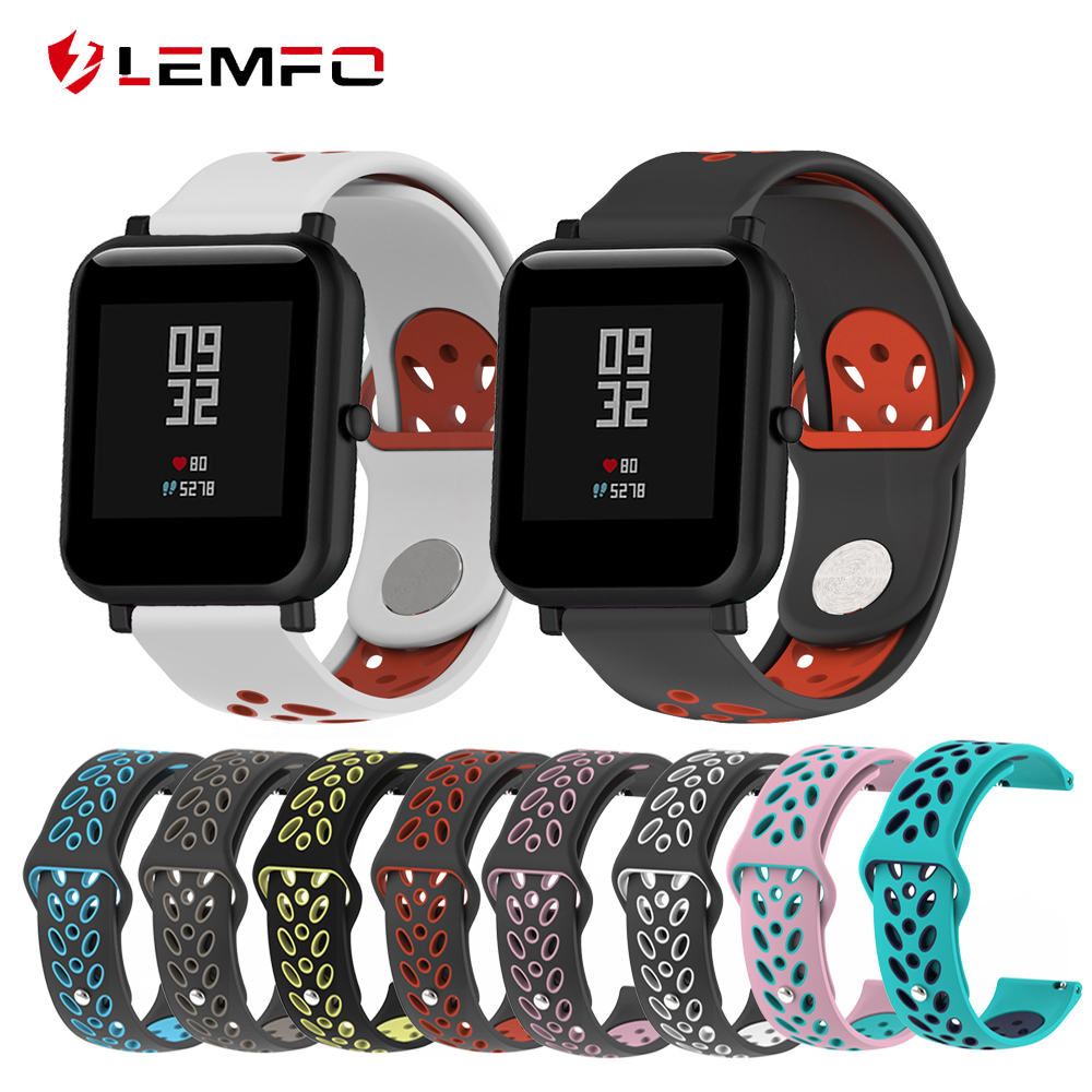 LEMFO Smart-Accessories Strap Wrist-Band Silicone Double-Color Xiaomi Sport for Huami