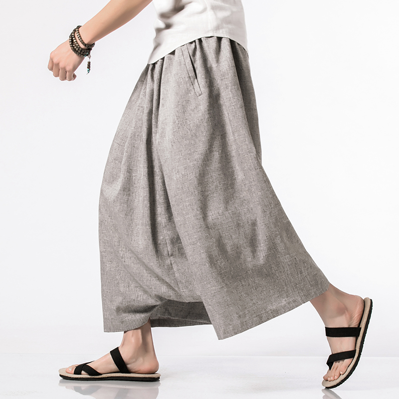 Casual Harem Pants Drop Crotch Pants Male Solid Loose Hip-hop Trousers Fashion Streetwear Cross Pants Men In Men's Cross Pants