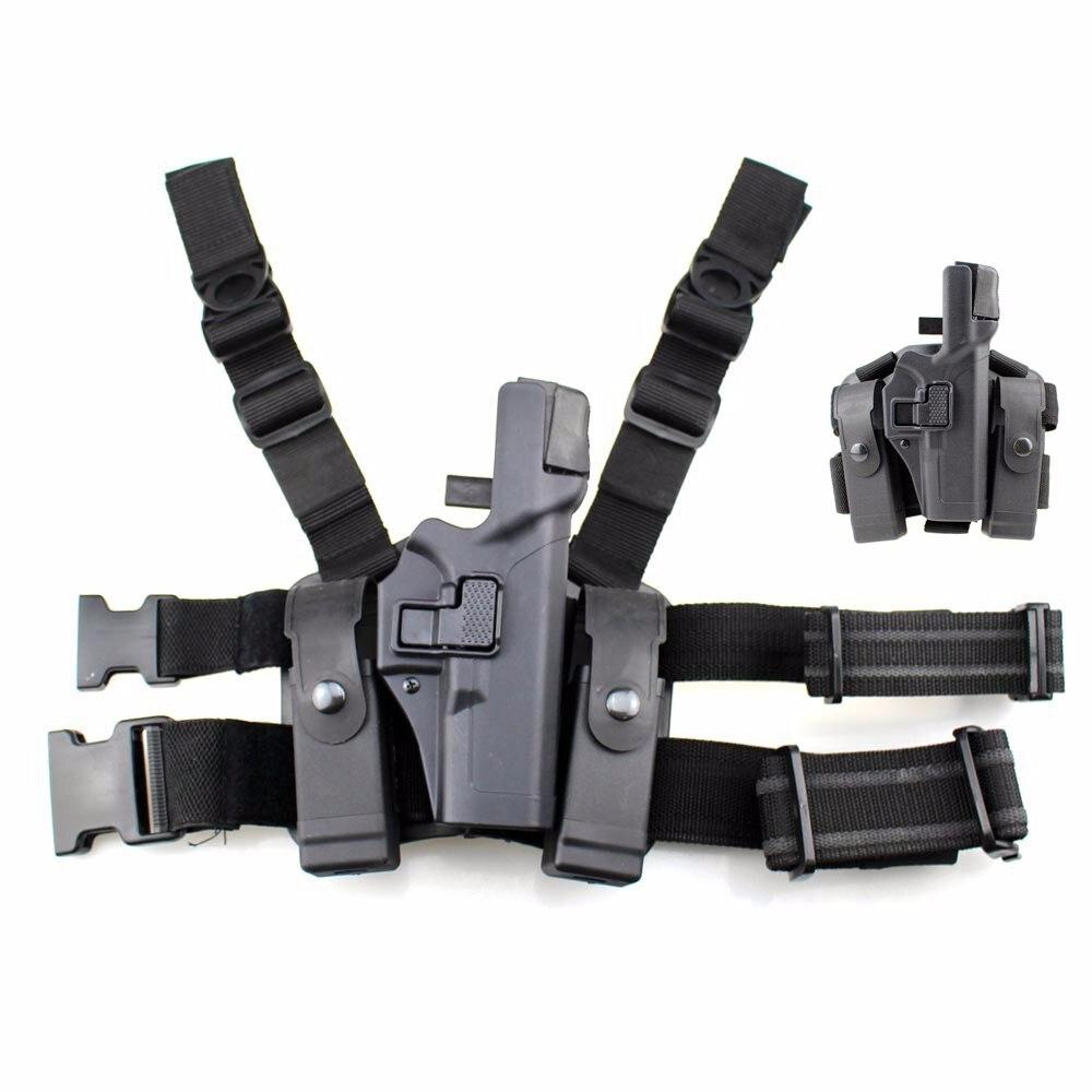 Main droite tactique Combat cuisse pistolet étui militaire Airsoft jambe étui chasse pistolet porter Magazine Glock 17 19 22 23 31