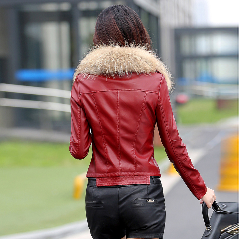 lederjacke frauen kurze motorrad lederjacke frühjahr und herbst - Damenbekleidung - Foto 6