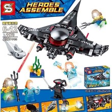 232pcs Black Manta Strike Batman DC Avengers Super Hero Building Blocks Compatible With LegoIngs 76095 Brick Toy