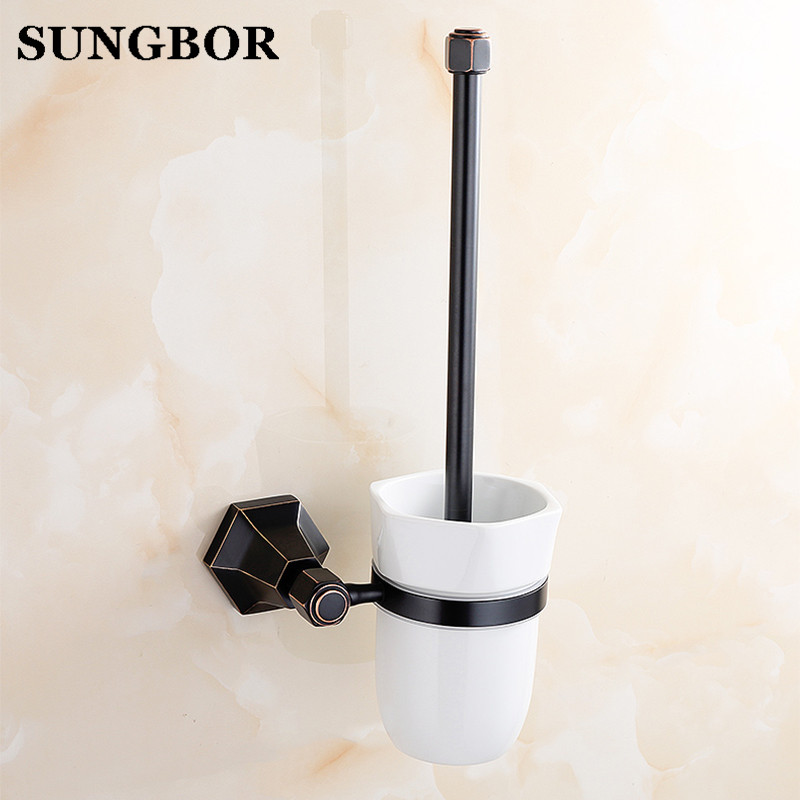 Antique Golden Brass Toilet cleaning brush/toilet brush Wall Mount Polished Chrome Bathroom Bathroom accessories Suite LM-62209K