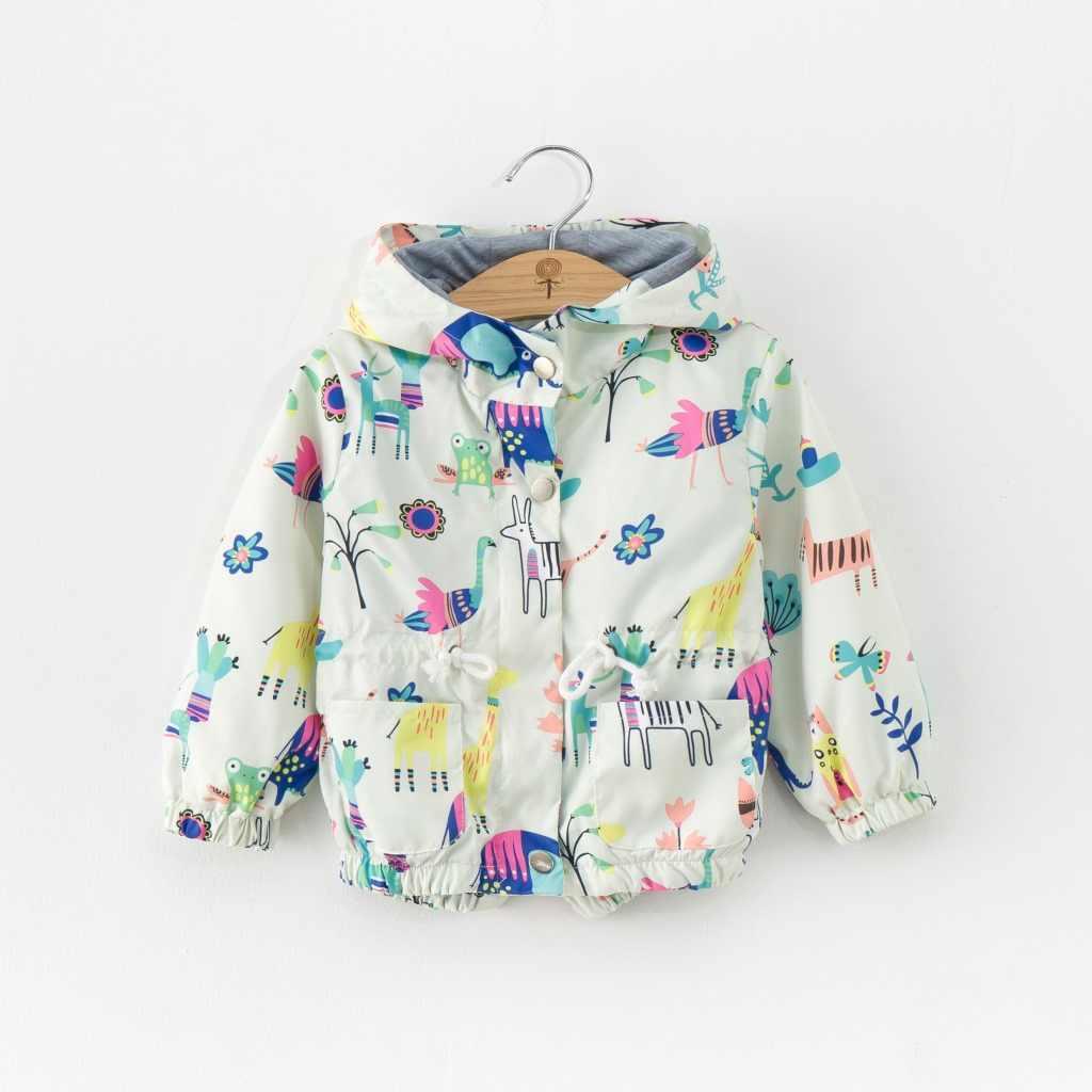 Коллекция 2019 года, осенне-весенний детский Тренч Детская куртка детская верхняя одежда с защитой от солнца толстовки с рисунком для мальчиков и девочек