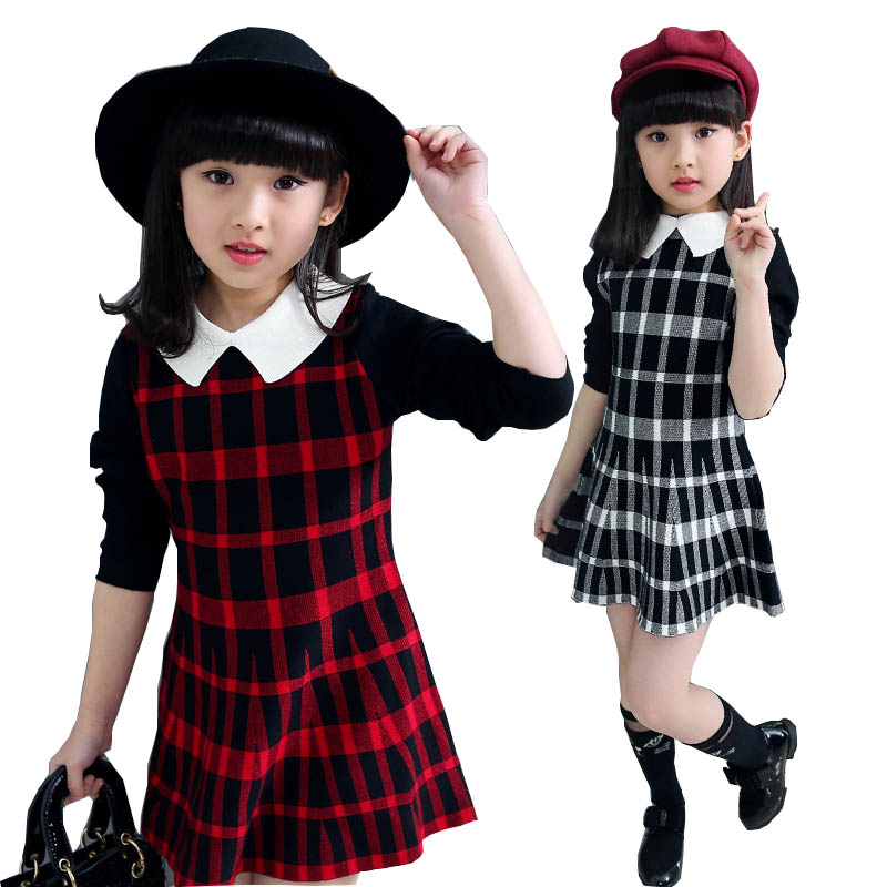 Teenage Girls Clothing 2017 Spring Autumn Girls Dresses Children Clothing Plaid Princess Dresses Kids Dress for Girls clothes брюки quelle befree 1024004