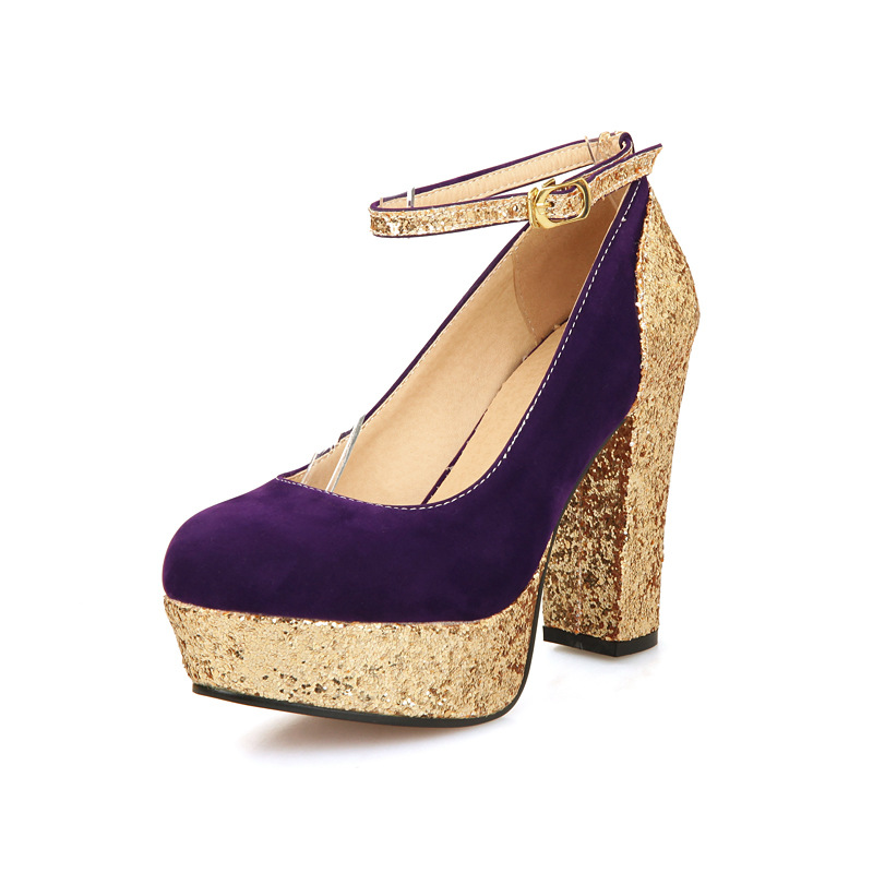 Chunky Glitter Heels Promotion-Shop for Promotional Chunky Glitter