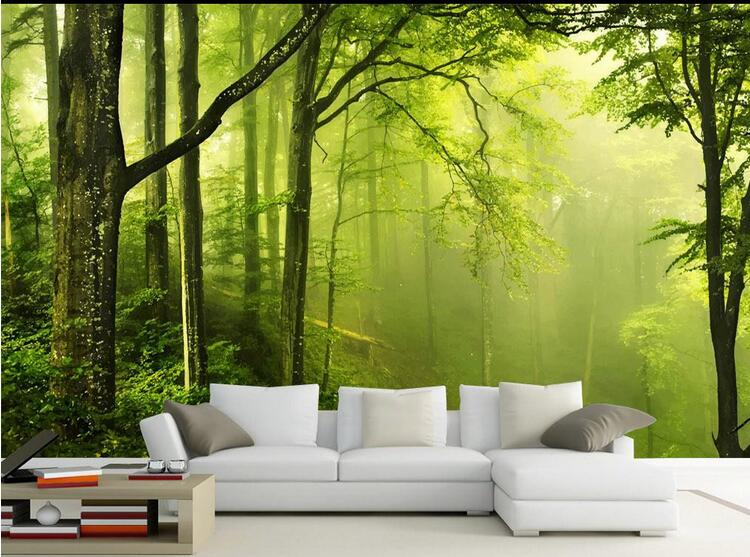3d photo mural abstract wall paper landscape murals papel de pared wallpaper forest bedroom. Black Bedroom Furniture Sets. Home Design Ideas