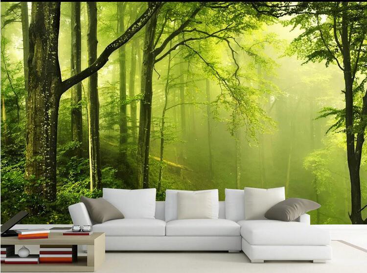 3D Photo Mural Abstract Wall Paper Landscape Murals Papel De Pared  Wallpaper Forest Bedroom Walls Wall