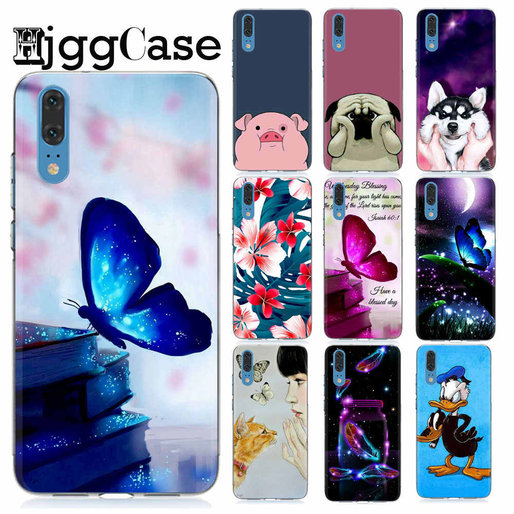 butterfly Cartoon Cases For Huawei P8 P9 Lite 2017 Honor 9 10 Lite Mate 10 20 P10 P20 Lite Pro Soft Silicone phone Cover Case