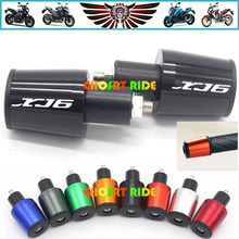 Acessórios da motocicleta 7/8 ''22mm Tampa Guiador Grips Handle Bar End Plugs Para YAMAHA XJ6 XJ6DIVERSION DIVERSION XJ 2009 -2014(China)