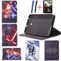 3D science fiction movie Star Wars: The Force awakening bracket pu leather cover case for Samsung galaxy Tab E 9.6 T561 T560