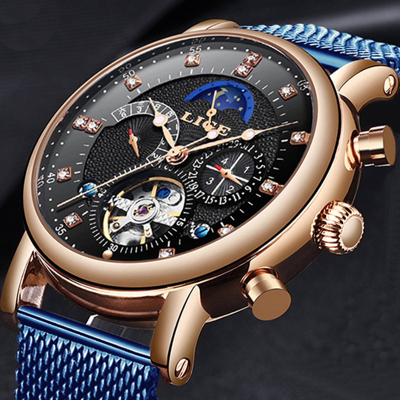 2019 New LIGE Mens Watches Luxury Fashion Brand Mechanical Automatic Tourbillon Watch Men Casual Sports Watch Relogio Masculino2019 New LIGE Mens Watches Luxury Fashion Brand Mechanical Automatic Tourbillon Watch Men Casual Sports Watch Relogio Masculino