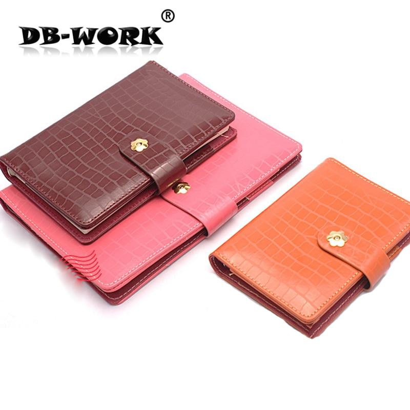 2019 ธุรกิจแฟชั่น notepad ทองหัวเข็มขัดสีส้มสีม่วงสีแดง fushia notepad ใบหลวมโน๊ตบุ๊ค