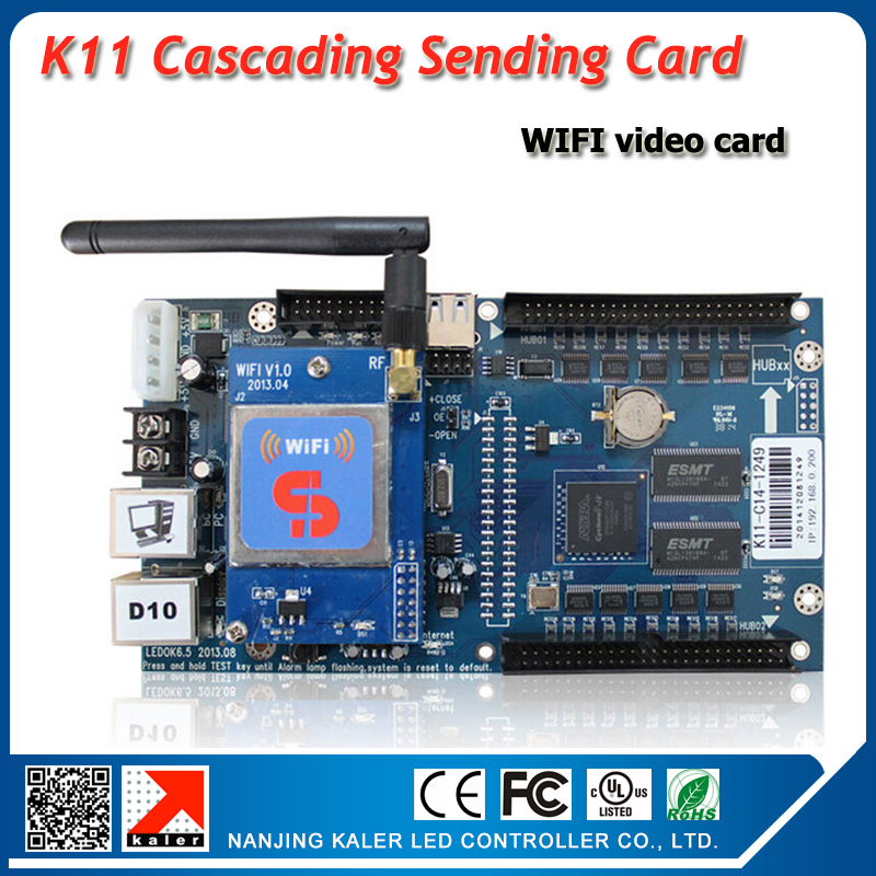 XIXUN asynchronous wifi video control card K11 with WIFI mofule support video screen control systemXIXUN asynchronous wifi video control card K11 with WIFI mofule support video screen control system