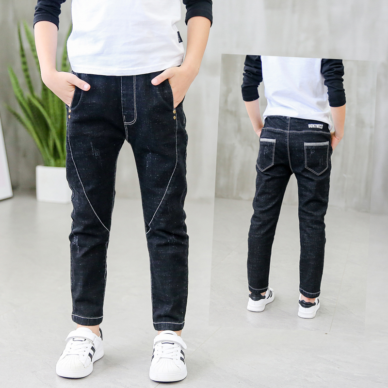 New Children Boys Jeans 2019 Spring And Autumn Kids Black Jeans Boys Casual Pencil Jeans Pants 3 4 5 6 7 8 9 10 11 12 13 14 Year Boys Jeans Jeans Boyschild Boy Jeans Aliexpress