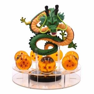 Image 1 - 15cm Dragon Ball Z Action Figure Green Gold Shenron And 7pcs Dragonball Balls+Shelf Figures Set Collectibal Model DBZ