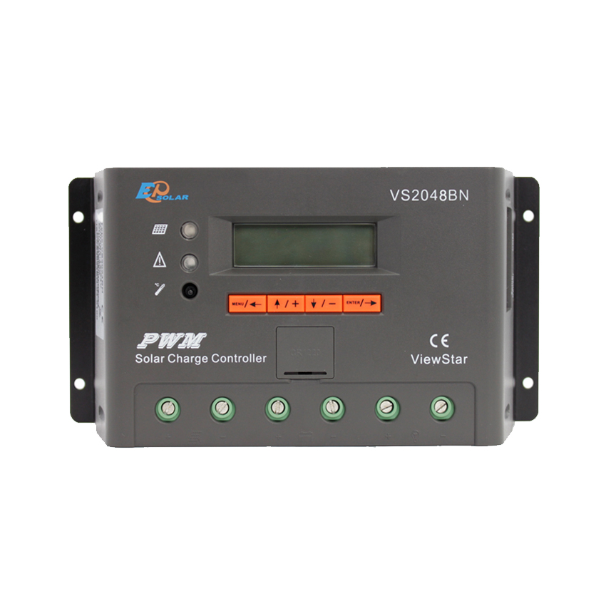 1pc x 20A 12V 24V 48V ViewStar VS2048BN EP PWM Solar system Kit Controller with LCD display 1pc x 30a view star vs3024bn 12v 24v auto ep pwm solar system kit controller lcd display