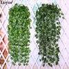 Hot 95cm 1pcs Artificial Ivy Leaf Garland Plants Vine Fake Foliage Flowers Wedding Home Decor Fashion