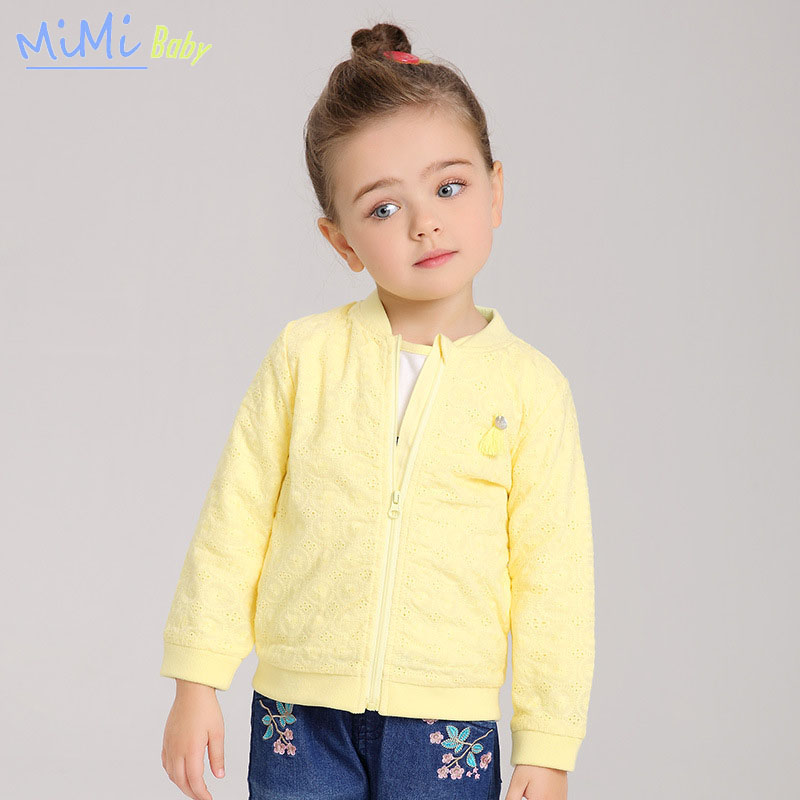 Children's Clothing 2017 Spring Child Outerwear Jackets for Girl Cotton Baseball Cloth <font><b>Embroidered</b></font> <font><b>Rib</b></font> <font><b>Cardigan</b></font> Zipper Jackets