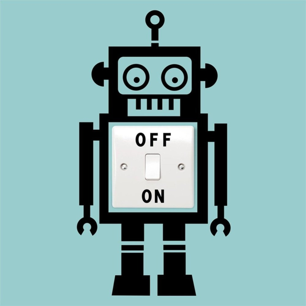 Aliexpress.com : Buy Free Shipping Cartoon Robot Switch Sticker ...