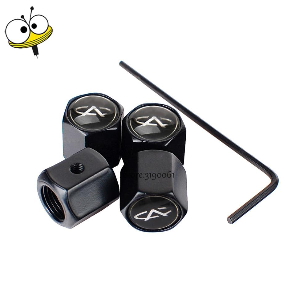 Car Accessories Auto Car Wheels Tire Valve Stem Caps Rim Sticker For Chery Fulwin QQ Tiggo 3 5 T11 A1 A3 A5 Amulet M11 Fora