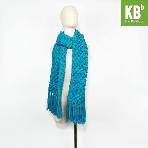 Knit BonBons Soft Acrylic Lilac Purple Big Lace Design Scarf Neck Warmer