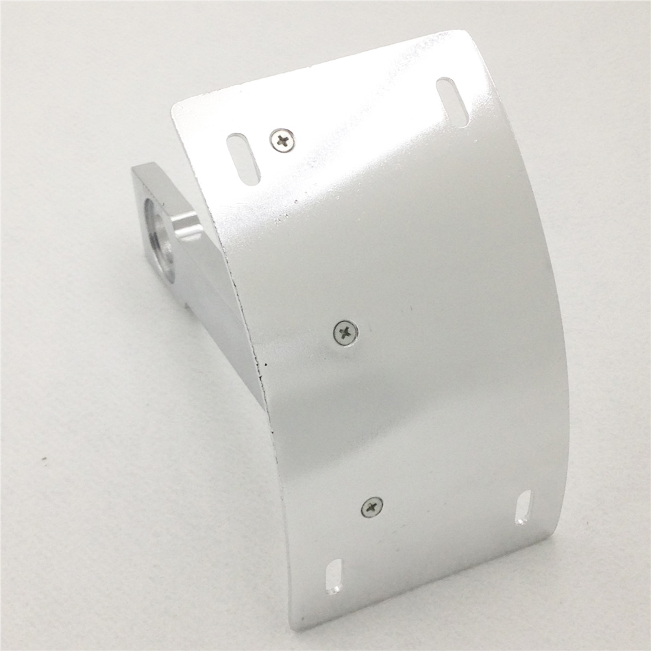 Aftermarket free shipping motorcycle parts Curved Mount License Plate Tag Holder Bracket for Yama Warrior V-Max SILVER