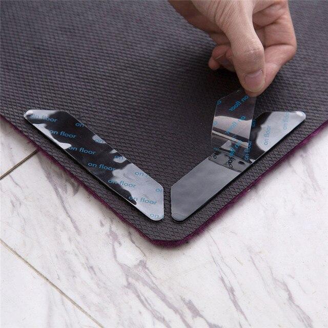 8 PCSHome Pavimento Tappetini Tappeto Zerbino Pinze Non Slittamento Anti Slip Autoadesivo Riutilizzabile Lavabile Grip Sticker Soggiorno camera Anti di Curling indoor