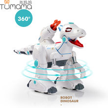 Tumama Intelligent Interactive Smart Toy Dinosaur Robot 2.4G Remote Control Toys Dancing Walking Shooting Learning Gift For Kids(China)