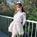 Princesa lolita doce Departamento de fadas menina Kawaii subiu Pegasus Impresso saia saia BOBON21 B1355