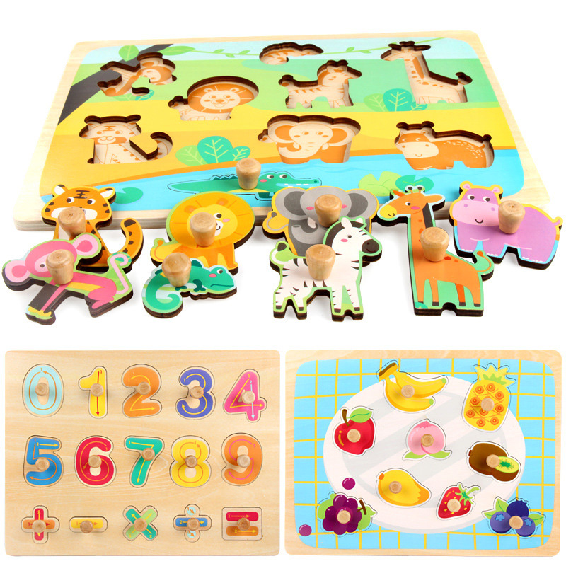 30 CM Holz Spielzeug Puzzle Pädagogisches Baby Kinder Ausbildung Spielzeug Für Kind Obst Gemüse Kuchen Puzzles Spielzeug Jigsaw