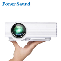 Poner Saund GP9 Wireless Mini Led Projector Wired Sync Display Home Theater HDMI Proyector Support 1080p Projector Without WIFI