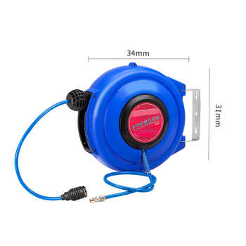 8*5mm 9m Automotive Air Hose Reel Pneumatic Hose PU Tube OD 8MM ID 5MM Automatic Retractable Reel Telescopic Drum Hose