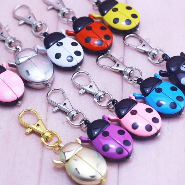 CHAOYADA Brand New Fashion Crystal beetles Ladybug Pocket Pendant Key Ring Chain