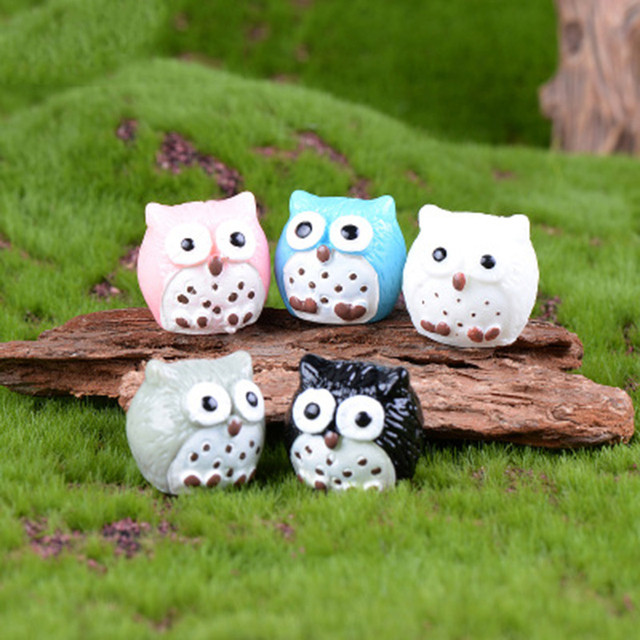 Colorful Night Owl Small Resin Ornament Crafts Statue