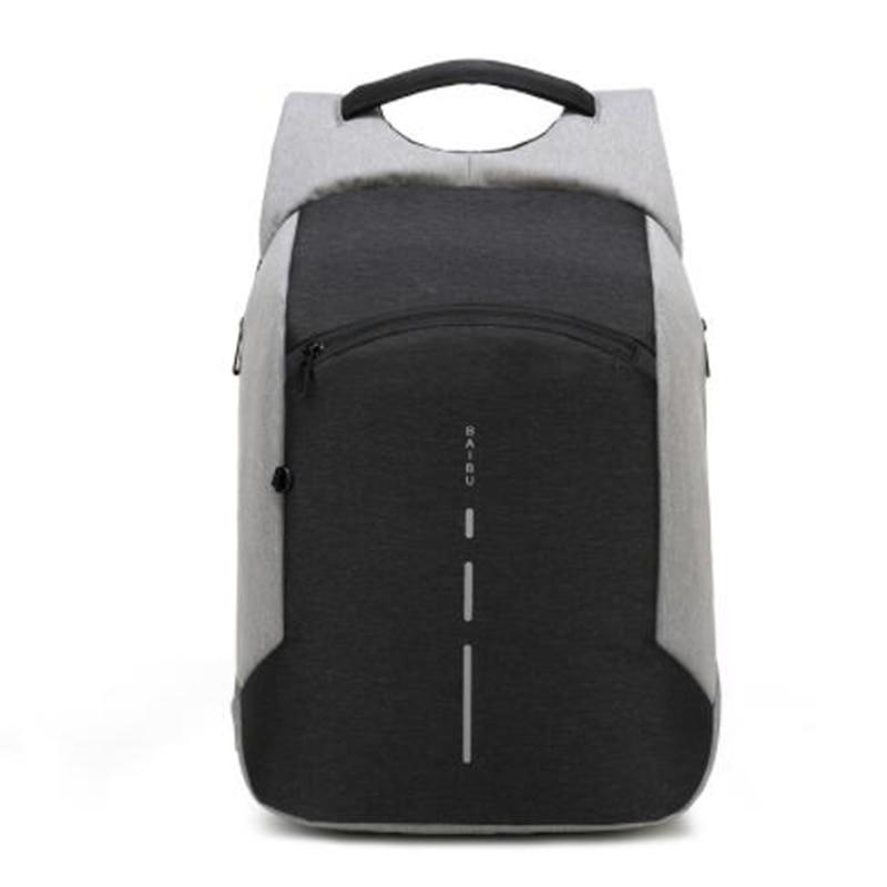 BAIBU New Anti theft Backpack Fashion 15 6inch USB Charge Laptop Backpack Men Travel Backpack Waterproof