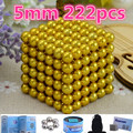 Retail yellow 5mm 216pcs Metaballs Magnetic Buck yBalls Magnet Neo Cube Magic Toys New Year Gift Xmas Gift Magico Metal Box