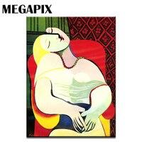 MEGAPIX קלאסי אמנות מופשטת ציורי פבלו פיקאסו בסלון וול דקו La Reve החלום