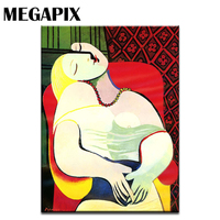 MEGAPIX Classical Pablo Picasso Paintings Abstract Art The Dream La Reve Living Room Wall Deco
