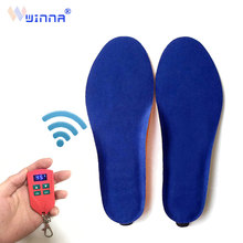 все цены на Rechargeable Electric Heating Insoles with LED Remote Control Women Winter Shoe Pads Anti Slip Increase Keep Warm Heated Insoles онлайн