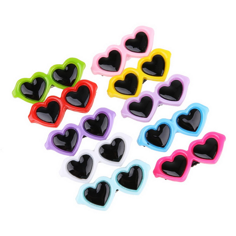 10 Pcs/set Pet Grooming Accessories Colorful Cats Dog Bows Hairpin Headdress Clip Pet Dog Bow Hair Sunglass
