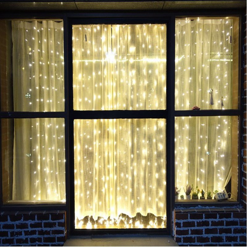 4.5x1/4.5x2/4.5x3m Icicle Led Curtain Fairy String Light 300 /240 Leds Christmas Lights For Wedding Home Garden Party Decoration