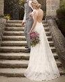 Nova Chegada Brilho de Cetim Bainha Vestidos de Casamento Do Laço Do Marfim 2016 Características Cristal Beading Bonitas Rendas Ombro Cintas vestido de Noiva
