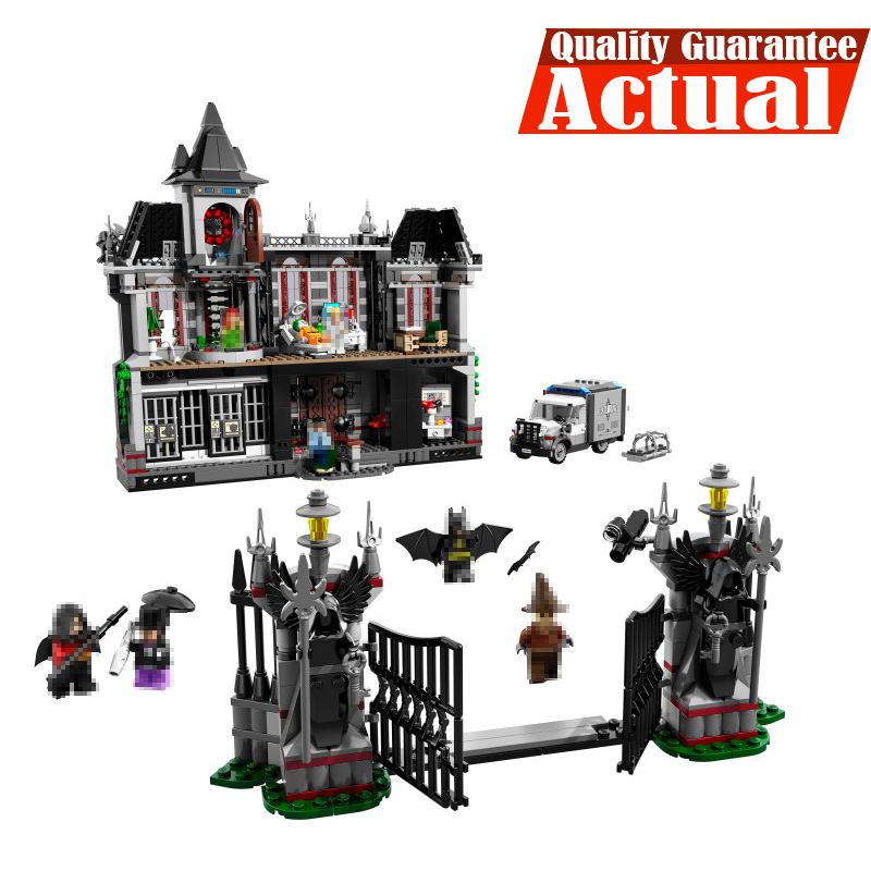 Lepin DC 07044 Arkham Asylum Breakout Super Heroes Batman Superhero Building Blocks Bricks 1685pcs Toys For Kids 10937 leGoINGly new 1628pcs lepin 07055 genuine series batman movie arkham asylum building blocks bricks toys with 70912 puzzele gift for kids