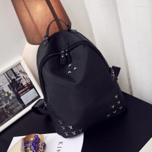NEW ARRIVAL Summer Backpack oxford school waterproof rivet soft surface backpack women Mochila doble