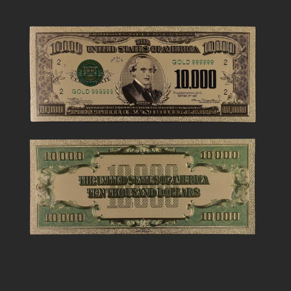 24K Us Gold Paper Money Banknote Bill Dollar Foil  50 Usd Banknotes 1975 Year