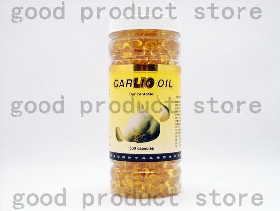 O Envio gratuito de 2 garrafas de cápsulas de Óleo de Alho para reduzir a gordura no sangue