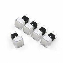 5 Pcs TS5 Serie Platz 9,2*9,2mm Mit LED Momentary SPST PCB Mini Push Button Klicken Takt Schalter