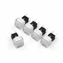 5 قطعة TS5 سلسلة مربع 9.2*9.2 مللي متر مع LED لحظة SPST PCB زر دفع صغير انقر فوق اللباقة التبديل