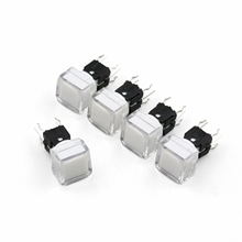 5Pcs TS5 Series Square 9.2*9.2mm With LED Momentary SPST PCB Mini Push Button Click Tact Switch