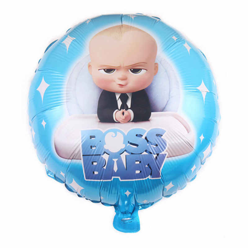 XXPWJ  New 18-inch round boss boy aluminum balloon baby birthday party holiday decoration decoration toy self-sealing    DD-057